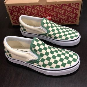 Vans Classic Slip-On Checkerboard Deep Grass Green
